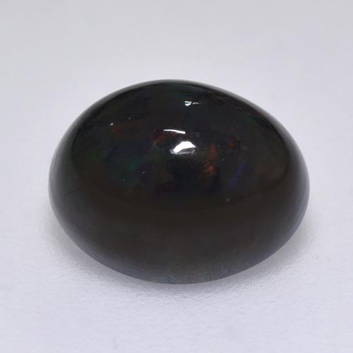 1.4ct Oval Cabochon Multicolor Black Opal Gem (ID: 515928)
