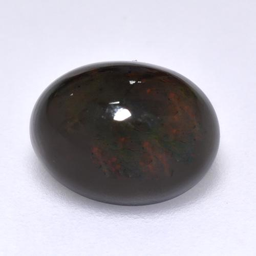 1.4ct Oval Cabochon Multicolor Black Opal Gem (ID: 515931)