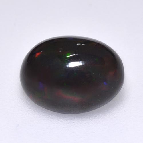1.2ct Oval Cabochon Multicolor Black Opal Gem (ID: 515936)