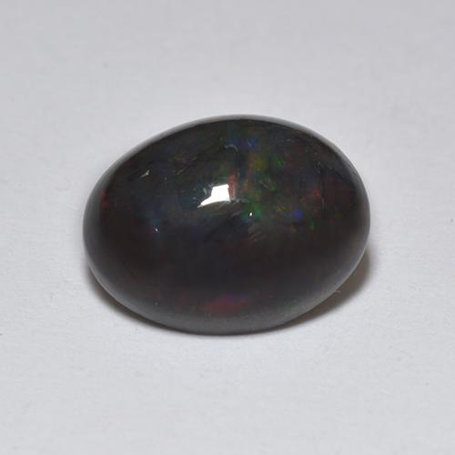 1.2ct Oval Cabochon Multicolor Black Opal Gem (ID: 518358)