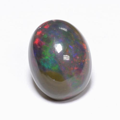 1.3ct Oval Cabochon Multicolor Black Opal Gem (ID: 519086)