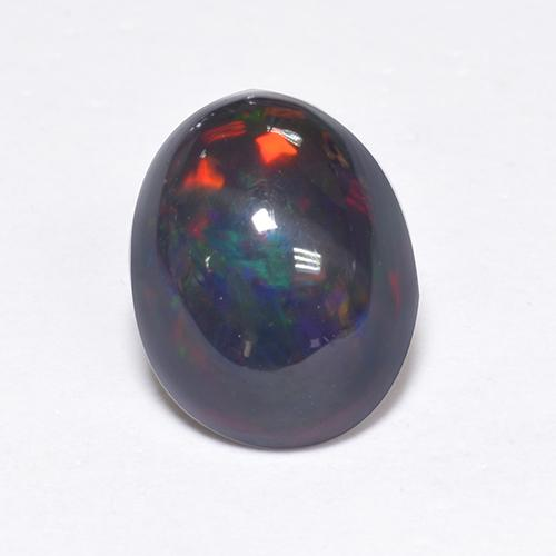 1.2ct Oval Cabochon Multicolor Black Opal Gem (ID: 519089)