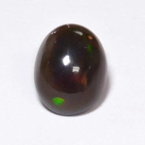 1.2ct Oval Cabochon Multicolor Black Opal Gem (ID: 519090)