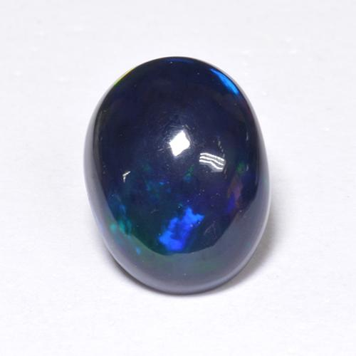 1.2ct Oval Cabochon Multicolor Black Opal Gem (ID: 519093)