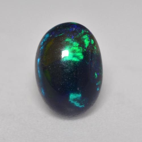 1.3ct Oval Cabochon Multicolor Black Opal Gem (ID: 535138)