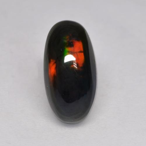 Multicolor Black Opal Gem - 1ct Oval Cabochon (ID: 535213)