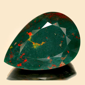 17 5 Carat Spotted Green Bloodstone Gem From Madagascar