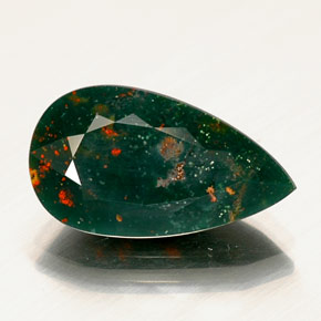 bloodstone 9 3ct pear from madagascar and