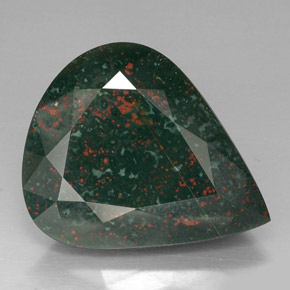 39 Carat Spotted Green Bloodstone Gem From Madagascar