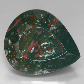 Buy 74.01 ct Spotted Green Bloodstone 33.24 mm x 28.3 mm from GemSelect (Product ID: 295142)