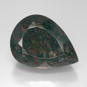 Bloodstone 57 5ct Pear From Madagascar Natural And