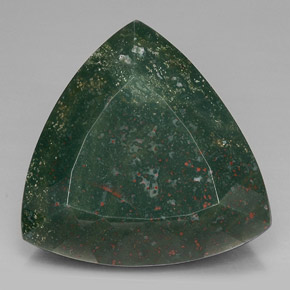 Buy 62.13 ct Spotted Green Bloodstone 26.57 mm x 26.2 mm from GemSelect (Product ID: 298011)