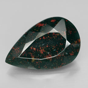 11 4ct spotted green bloodstone gem from madagascar