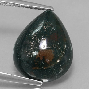 Buy 6.59 ct Spotted Green Bloodstone 15.07 mm x 12.1 mm from GemSelect (Product ID: 315428)