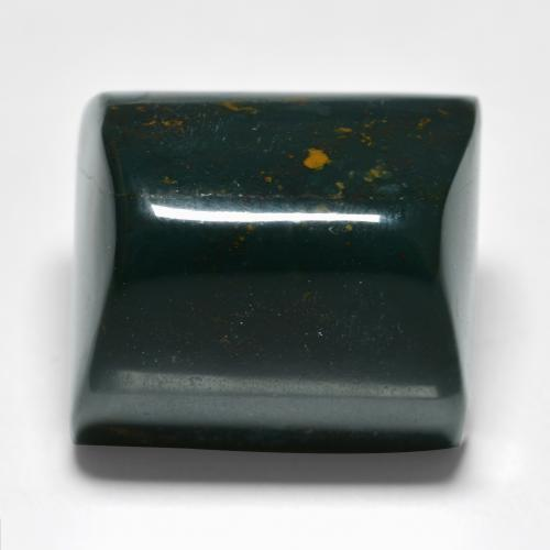 Spotted Green Bloodstone Gem - 36.7ct Baguette Cabochon (ID: 482106)