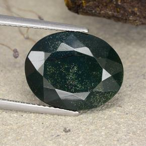 9.8ct Oval Facet Spotted Green Bloodstone Gem (ID: 482764)