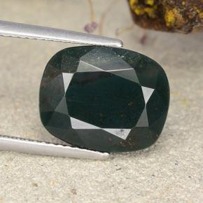 Spotted Green Bloodstone Gem - 8.4ct Cushion-Cut (ID: 482773)
