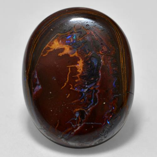 thumb image of 28.6ct Oval Cabochon Multicolor Boulder Opal (ID: 300453)