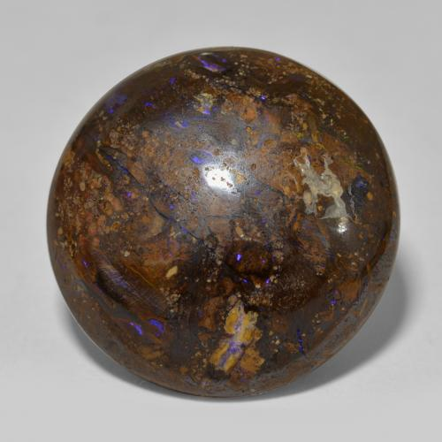 thumb image of 23.5ct Round Cabochon Multicolor Boulder Opal (ID: 302915)