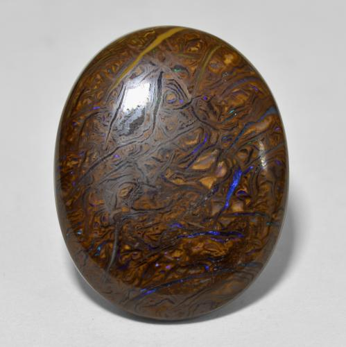thumb image of 22.2ct Oval Cabochon Multicolor Boulder Opal (ID: 302926)