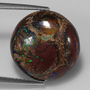 Buy 10.98 ct Multicolor Boulder Opal 16.20 mm  from GemSelect (Product ID: 310809)