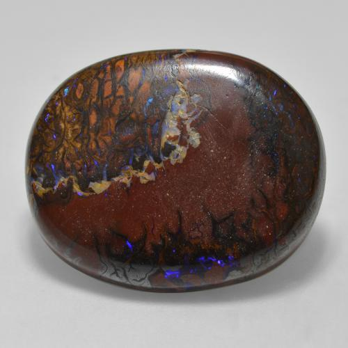 thumb image of 22.5ct Oval Cabochon Multicolor Boulder Opal (ID: 321845)