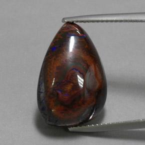 Multicolor Boulder Opal Gem - 17.6ct Fancy Cabochon (ID: 365230)