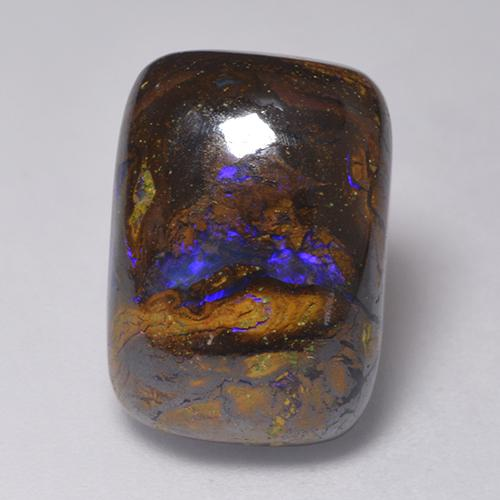 Multicolor Boulder Opal Gem - 13.3ct Cushion Cabochon (ID: 523729)