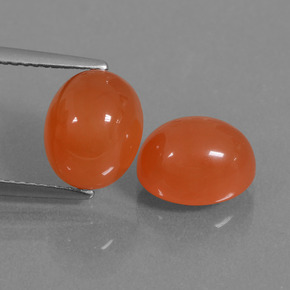 Fire Orange Cornalina Gema - 3.4ct Cabujón Óvalo (ID: 436121)