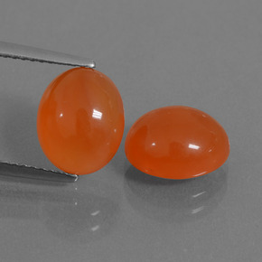 Orange Carnelian Gem - 3ct Oval Cabochon (ID: 436138)