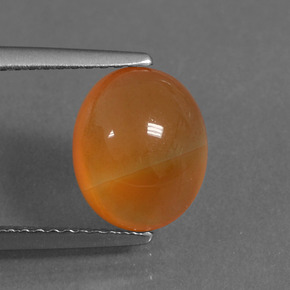 Reddish Orange Carnelian Gem - 3ct Oval Cabochon (ID: 436605)