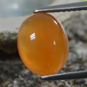 Medium Orange Carnelian Gem - 2.7ct Oval Cabochon (ID: 469674)