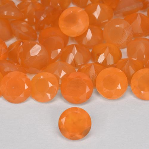 0.3ct Round Facet Medium Orange Carnelian Gem (ID: 513151)