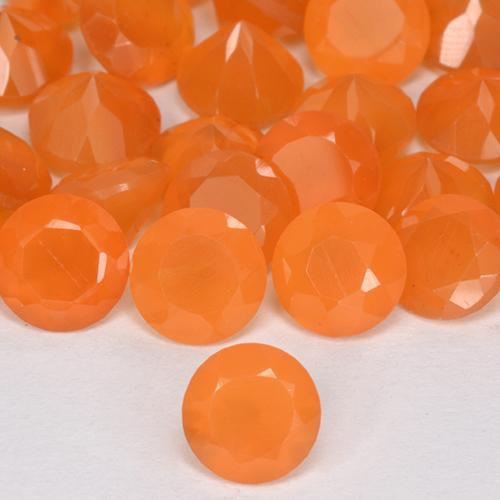0.5ct Round Facet Bright Orange Carnelian Gem (ID: 513155)