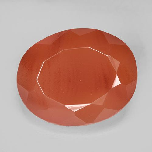 7.9ct Ovale sfaccettato Fire Orange Corniola Gem (ID: 513174)