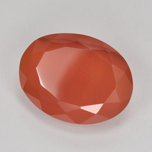 8.6ct Ovale sfaccettato Medium Orange Corniola Gem (ID: 513180)