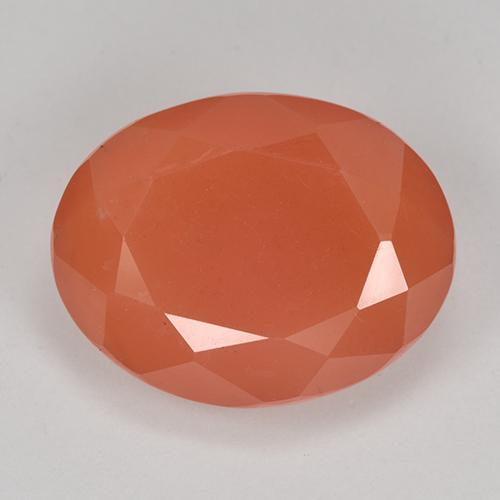 9.1ct Forma ovalada Fire Orange Cornalina Gema (ID: 513182)