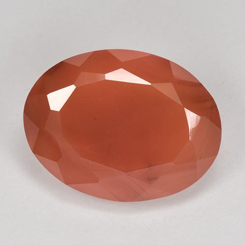 10ct Ovale sfaccettato Fire Orange Corniola Gem (ID: 513183)