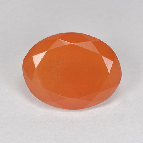 4.6ct Ovale sfaccettato Medium Orange Corniola Gem (ID: 513211)