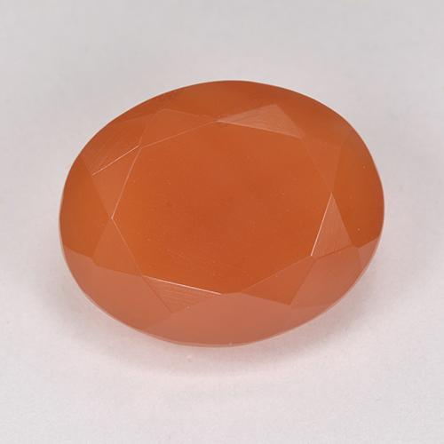 9.2ct Ovale sfaccettato Fire Orange Corniola Gem (ID: 513216)