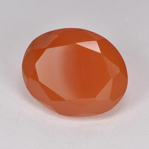 7.07 ct 椭圆形切面 Intense Orange 红玉髓 宝石 14.01 mm x 11.4 mm (Product ID: 513221)