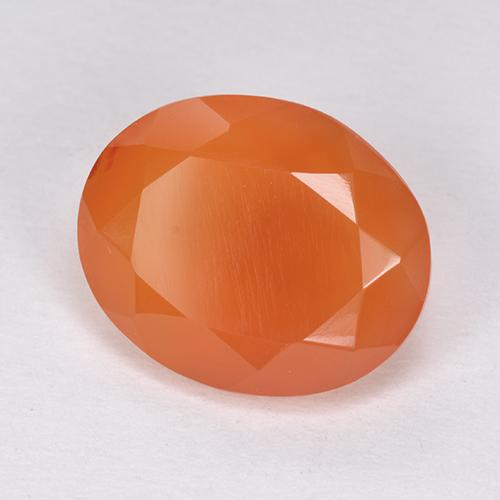 4.7ct Ovale sfaccettato Medium Orange Corniola Gem (ID: 513402)