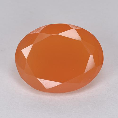 6.4ct Oval Facet Bright Orange Carnelian Gem (ID: 513403)