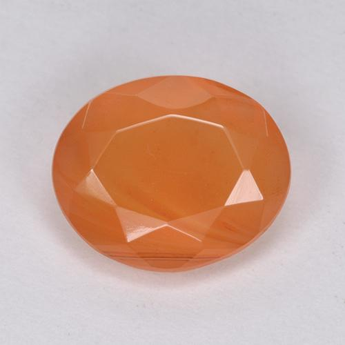 2.7ct Oval Facet Bright Orange Carnelian Gem (ID: 513404)