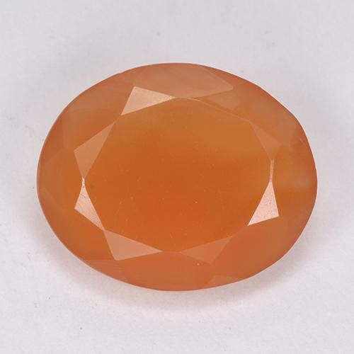 6.6ct Ovale sfaccettato Fire Orange Corniola Gem (ID: 513407)