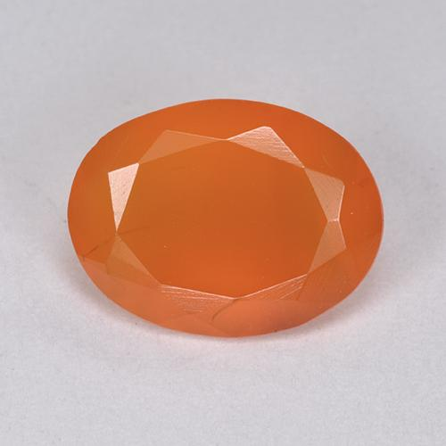 3ct Oval Facet Bright Orange Carnelian Gem (ID: 513408)