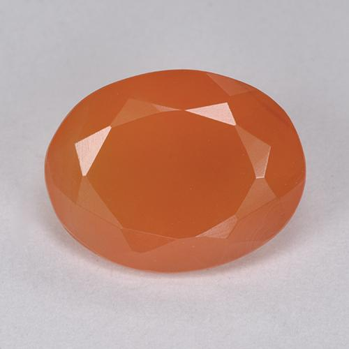 5ct Oval Facet Reddish Orange Carnelian Gem (ID: 513409)