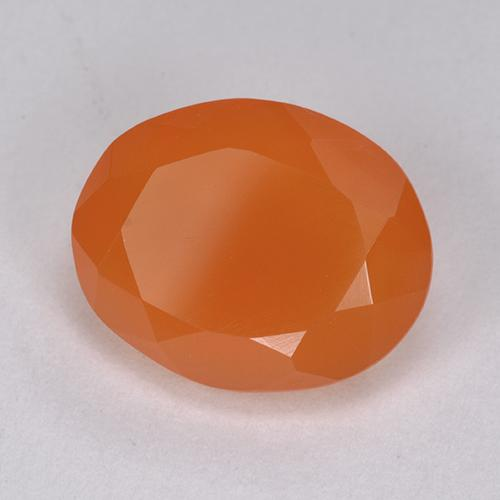 3.9ct Ovale sfaccettato Intense Orange Corniola Gem (ID: 513411)