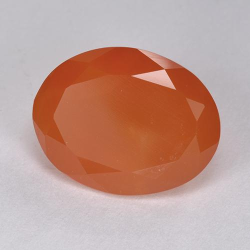 6.12 ct Ovale facette Orange rougeâtre Cornaline gemme 14.00 mm x 10.9 mm (Photo A)