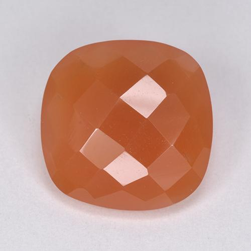 6.09 ct Cushion Checkerboard (double sided) Medium Orange Carnelian Gemstone 12.92 mm x 12.9 mm (Product ID: 513438)